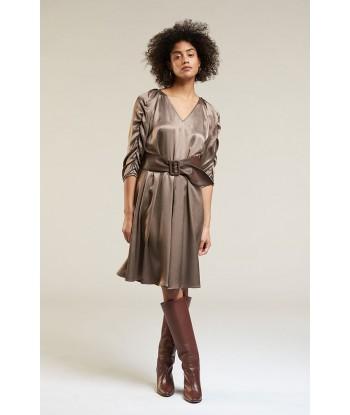 Her. korte jurk in viscose