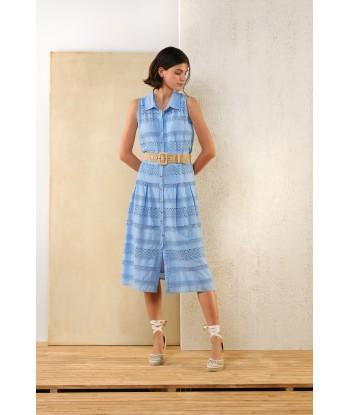ATMOS blauwe midi jurk...
