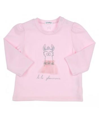 GYMP roze t-shirt met lama