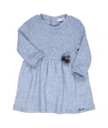 GYMP blauwe jurk met zilver...