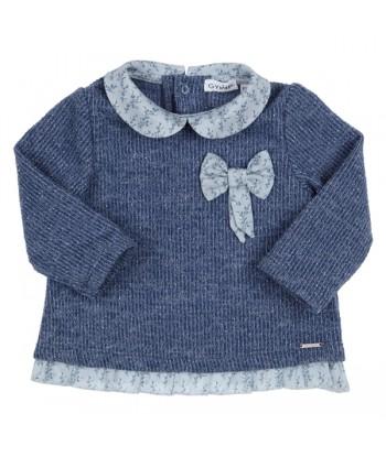 GYMP blauwe pullover met...