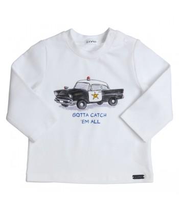 GYMP witte t-shirt met...