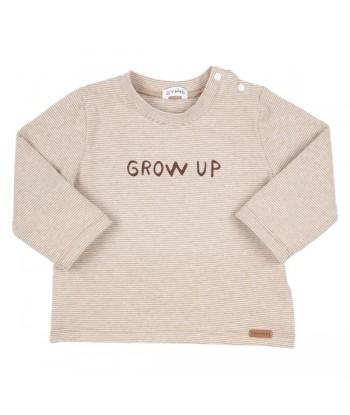 GYMP bruine t-shirt grow up