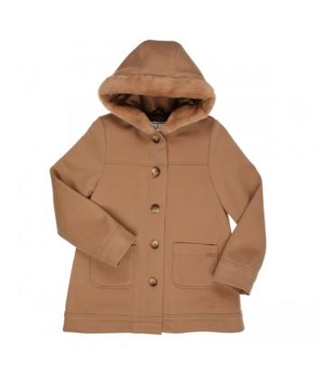 GYMP vest in camel kleur