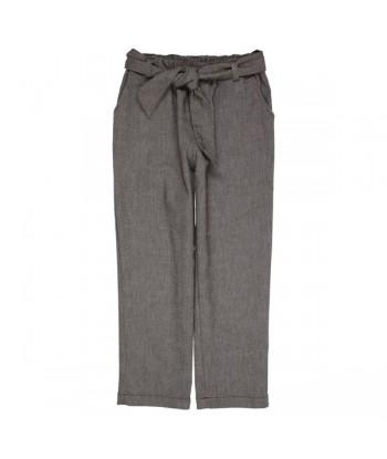 GYMP 7/8 bruine broek met riem